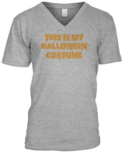 (Blittzen Mens V-Neck This is My Halloween Costume - Funny, XL, Light)