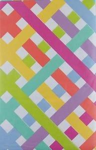 Amazon Com Easter Pastel Lattice Vinyl Flannel Back