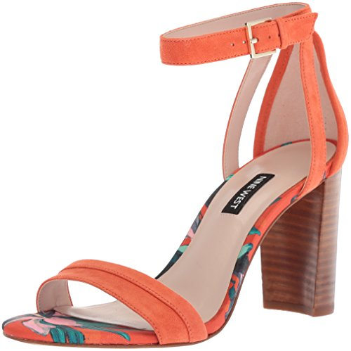Nirmala Sandal Suede West Women's Nine Orange Heeled Suede Ax7EHnqP