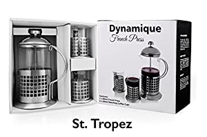 French Press Coffee Maker With Timer : Amazon.com: Dynamique French Press Coffee Maker (27oz) with 2 FREE matching cups, Perfect Gift ...