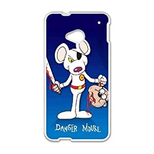 Pcbys Unique Design Cases HTC One M7 Cell Phone Case Cartoon Danger Mouse Printed Cover Protector