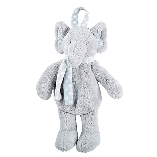 Stephan Baby Stephan Baby Plush Stuffed Animal with Pajama Pocket Available in 5 Styles, Grey Elephant