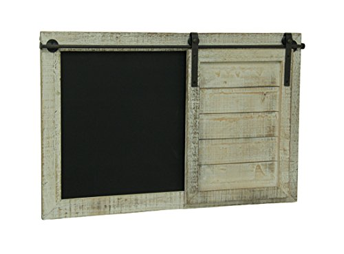 - Whitewashed Finish Barn Door Chalkboard Message Board