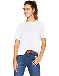 Amazon Brand - Daily Ritual Women's Jersey Short-Sleeve Boxy Pocket Tee
