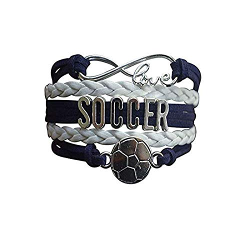 lukuhan Soccer Charm Bracelet - Infinity Love Adjustable Charm Bracelet with Soccer Charm for Soccer Players.jpgChocolate ()