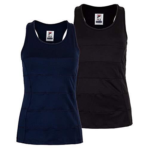- Fila Women`s Foundations Seamed Racerback Tennis Tank (Medium Black)