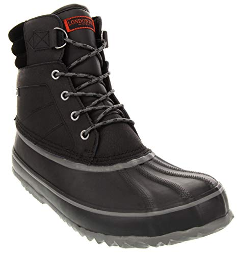 London Fog Mens ASHFORD3 Waterproof and Insulated Duck Boot Black 9 M US