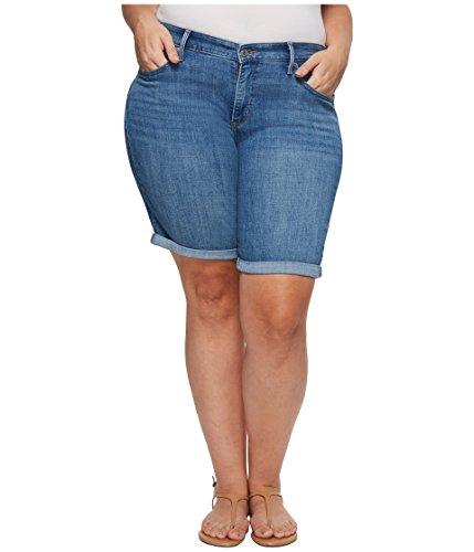 (Levi's Women's Plus-Size Shaping Bermuda Shorts, Dancing Skyline, 42 (US 22))