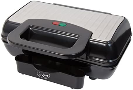 Quest 34330 Non-Stick Hot Grill Dual Burger Maker for Fun Cooking, 800 W, Black