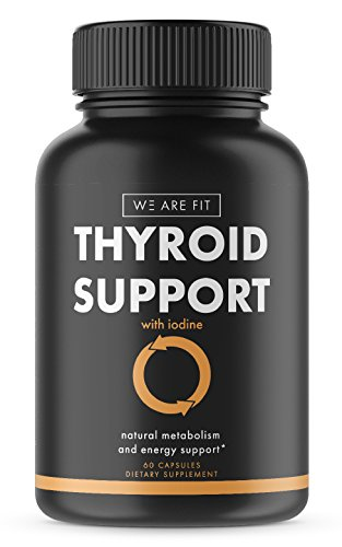 Thyroid Support Supplement to Improve Energy & Help Lose Weight with Iodine - Increase Concentration, Stop Brain Fog, Boost Metabolism with a complex blend of Vitamin B12, Zinc, Ashwagandha