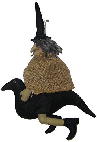 Craft Outlet Witch on Crow Figurine, 13 by 14-Inch]()