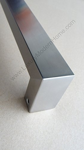 dh - 16'' Rectangular Tube Pull Shower Door Handle Square Stainless Steel 304 by LuxuryModernHome (Image #5)