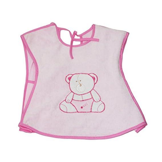 Muren Baby Hosiery Bibs Cum Apron Pink