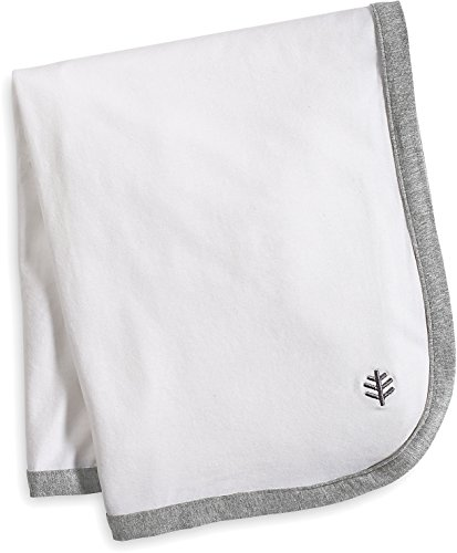 Coolibar UPF 50+ Baby Sun Blanket - Sun Protective (One Size- White/Grey Colorblock)