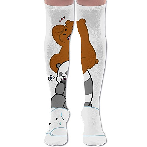 (Polar Bear Panda Polyester Cotton Over Knee Leg High Socks Cartoon Unisex Thigh Stockings Cosplay Boot Long Tube Socks For Sports Gym Yoga Hiking Cycling Running Soccer)