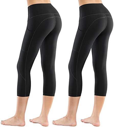 LifeSky Workout Leggings Pockets Control