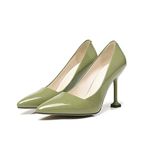 Femmes à Pointus Talons pour à Green Chaussures Bouts Pointus 0qd1ndSw