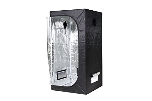 iPower GLTENTXS3 Mylar Hydroponic Grow Tent for Indoor Seedling Plant Growing w/Metal Push-Lock Corners, 32''x32''x63'', Water-Resistant. Removable Mylar Floor Tray Included by iPower (Image #1)