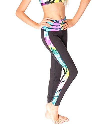 Malibu Sugar Tween (7-14) Tie Dye Work Out Leggings One Size Pink/Yellow/Blue