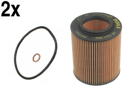 (BMW (96-07 6cyl) Oil Filter Kit (x2) MAHLE)