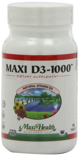 Maxi Vitamin D3 1000 IU enzymaxed for easy digestion 90 tablets,(Pack of 2)
