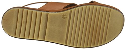 Inuovo 9004, Sandales Bout Ouvert Femme Beige (Coconut 12058623)
