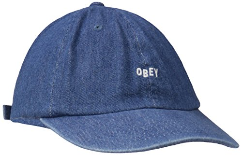 Obey Men's Jumble Bar 6 Panel Hat, Denim, One Size