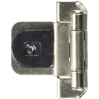 Amerock BP8700 G10 Double Demountable Hinge 3/8 Inch Inset, Satin Nickel
