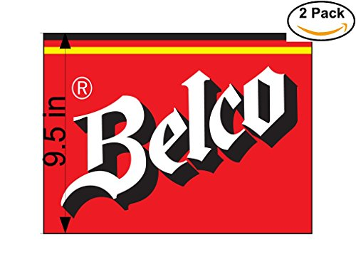 belco-2-beer-logo-alcohol-4-vinyl-stickers-decal-bumper-window-bar-wall-95-inches