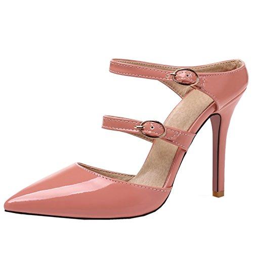 de Mujer Rojo Para 34 Vestir Rosa Zapatos Red Rongzhi qwAxRx