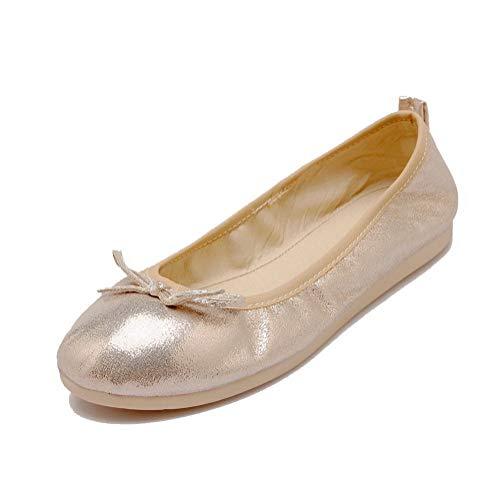 Tonda Tirare Flats Basso Tacco GMMDA010845 Oro Puro Ballet Donna Punta AgooLar qUIg8g
