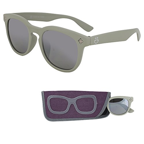 (Sunglasses for Children - 100% UV Protection - Ages 3 to 12 - Mirrored Lenses for Kids (Grey))