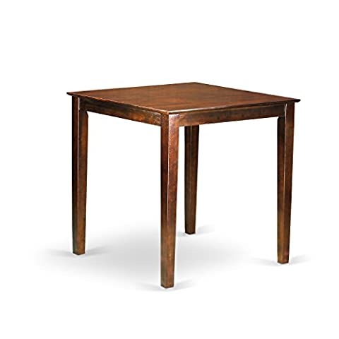 East West Furniture VNT-MAH-T Counter Height Square Table, Mahogany Finish - Pub Table Dinette