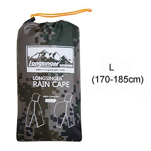 Extérieur C 170cm Multifonctionnel L170 s155 L'eau Imperméable Raincoat H Poncho À Trois L'alpinisme couleur Pour Extérieur 185cm WfBa0anF
