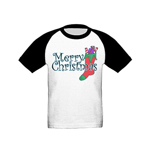 GaoXIN Merry Christmas Socks Baby Infants Kids Baseball Short Sleeve Raglan Tshirt 4 Toddler