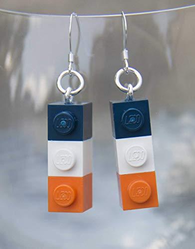 Syracuse University Orange Earrings Jewelry STERLING SILVER Hooks for Syracuse Football Tailgating