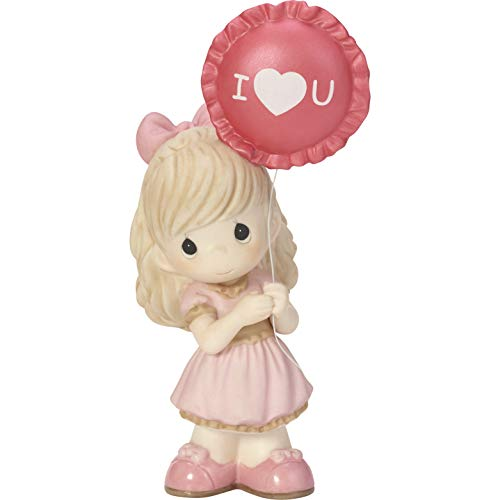 Precious Moments You Make My Heart Smile Girl With Balloon Bisque Porcelain Figurine 182014