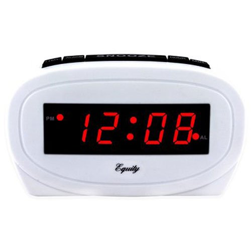 (Geneva/Advance Clock 3137AT 0.6 LED Alarm Clock, White)