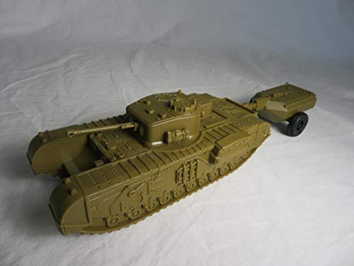 CTS Classic Toy Soldiers, Inc WWII British Churchill Tank with Crocodile (Best British Tank Ww2)