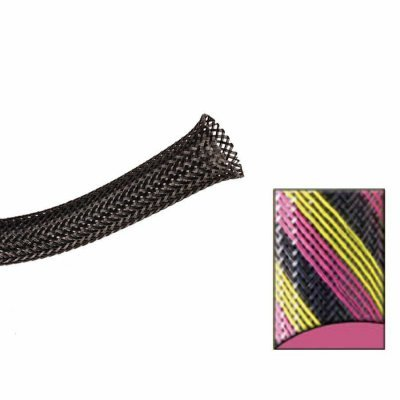10 Feet Keep It Clean 13362 Wire Loom 2 Black Pink and Yellow Strips Ultra Wrap Wire Loom