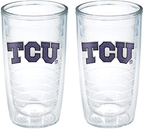 Tervis Texas Christian University Emblem Tumbler (Set of 2), 16 oz, Clear