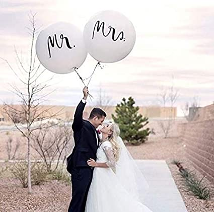 Amazon.com: 36 pulgadas Mr. & Mrs. Globos de boda para ...