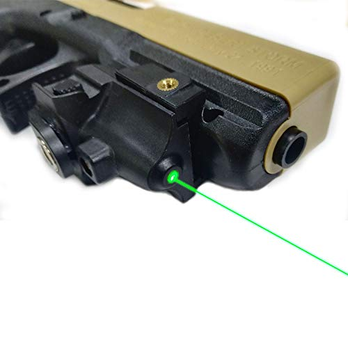 affordable TTAS Tactical Green Laser Sight, Compact Laser Sight Fit Standard Picatinny Rail Gun Low Profile Pistol Green Dot Sight Magnetic Charging Handgun Laser Tactical Sights Airsoft Laser Pointer