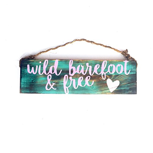 Ruskin352 Wild Barefoot And Free sign beautiful anthropologie for sale  Delivered anywhere in USA