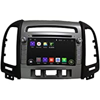 7 Android 6.0 Otca Quad Vehicle Multimedia DVD Player GPS Navi For Hyundai SANTA FE 2012 With Car Stereo Radio WIFI Bluetooth Steering Wheel Control