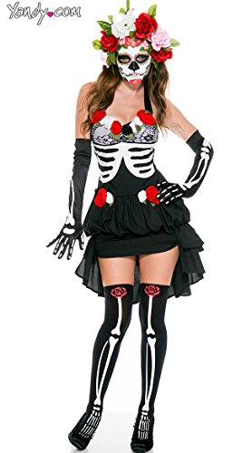 Used, Music Legs Women's Mrs.Muerte, Black/White, Medium/Large for sale  Delivered anywhere in USA