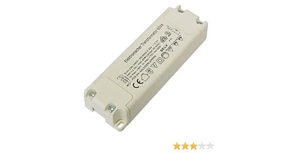 dimmbarer Slim Transformador Electr/ónico para hal/ógenos de bombilla/ /230/V a 12/V/ /10/W de 70/W