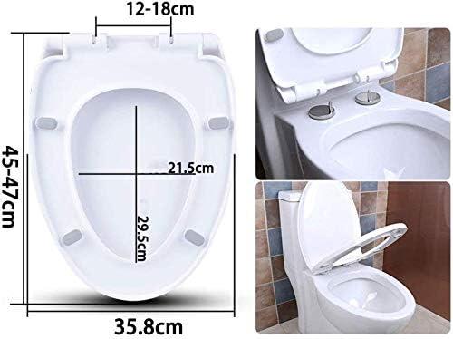 S-graceful便座U/V/O形便座ふたスローダウン超耐性上部固定厚くなった便座カバー浴室ふた家族用、白45〜47cm * 35.8cm