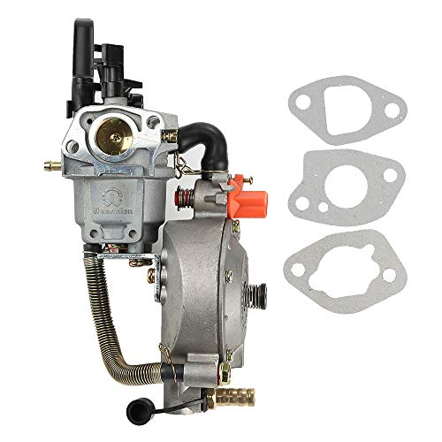 Venseri Dual Fuel LPG NG Conversion Carburetor with Gasket for 2KW GX160 168F Manual Choke Water Pump Engine ()