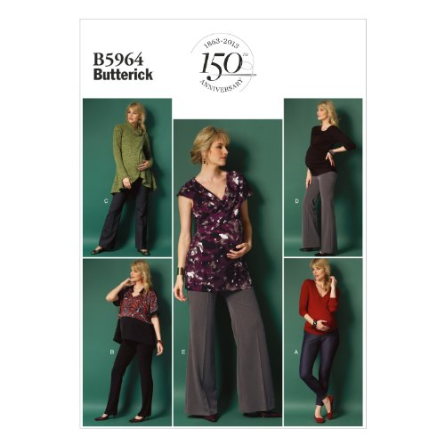 Butterick Patterns 5964 Misses Maternity Leggings and Pants Sizes 14-16-18-20-22